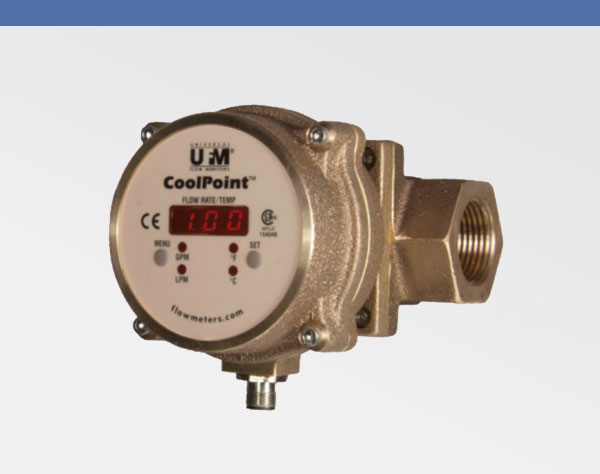 COOLPOINT Brass or Stainless-Steel Flow Monitor 600